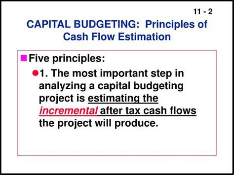 exle of cash flow estimation ppt relevant cash flows working capital treatment
