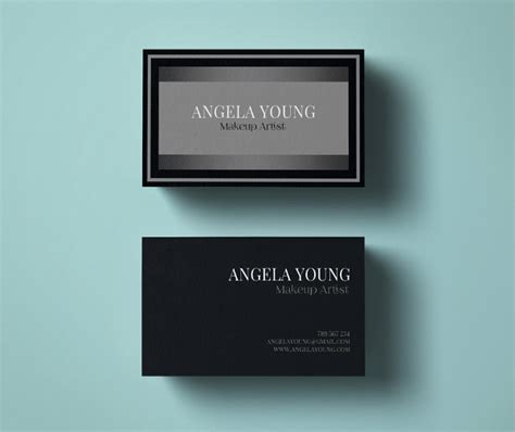free business card template for makeup artist 33 artist business cards free psd ai vector eps