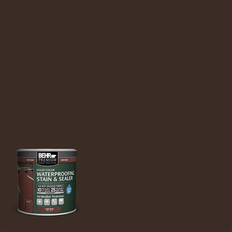 behr premium 8 oz sc103 coffee solid color waterproofing stain and sealer sle 501316 the