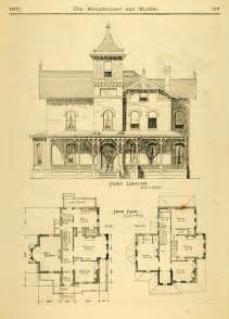 Historic House Plans by 1873 Print House Home Architectural Design Floor Plans