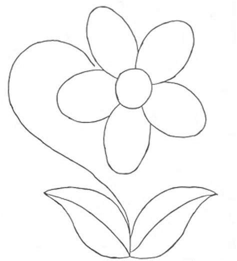 imagenes de rosas faciles para colorear dibujos de flores para colorear