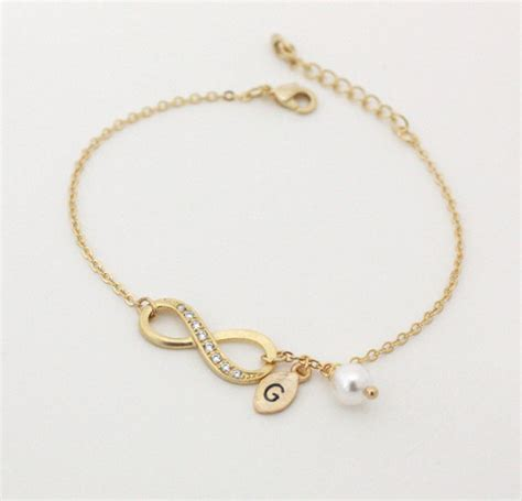 infinity bracelet initial bracelet personalized bracelet