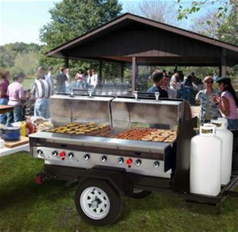 Barbecue Outdoor Kitchen - model mobile slpx stainless steel mobile trailer gas grill camp kitchen trailers pinterest