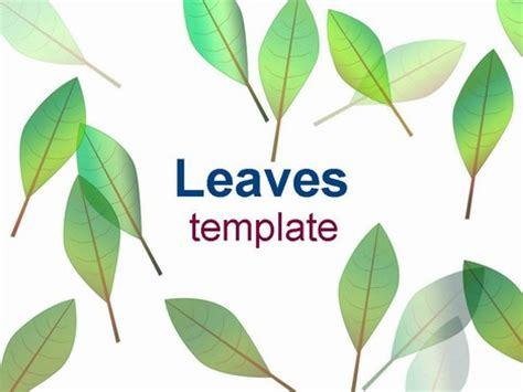 powerpoint design leaf leaves template