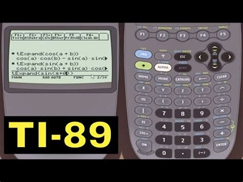 simplifying trigonometric expressions with the ti 89