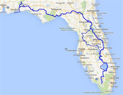 florida trail map flt map warrior expeditions