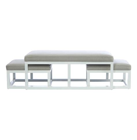 Ottoman Coffee Table With Stools Chatham White Coffee Table Ottoman With Stools Flax
