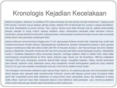 Contoh Kronologi Kejadian Kecelakaan by Tugas Besar Investigasi Kecelakaan