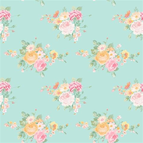 papel de parede vintage flowers background seamless