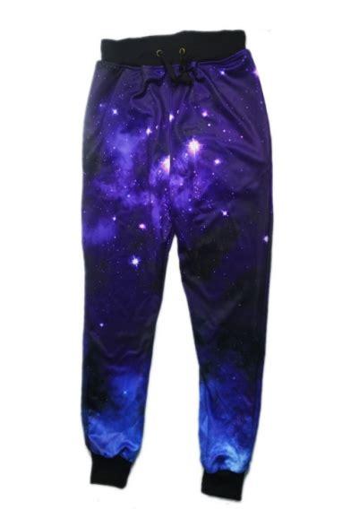 galaxy pattern jeans chic digital galaxy pattern drawstring waist loose casual