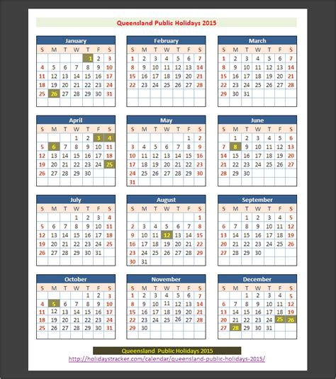 Calendar 2015 September Australia Queensland Australia Holidays 2015 Holidays Tracker