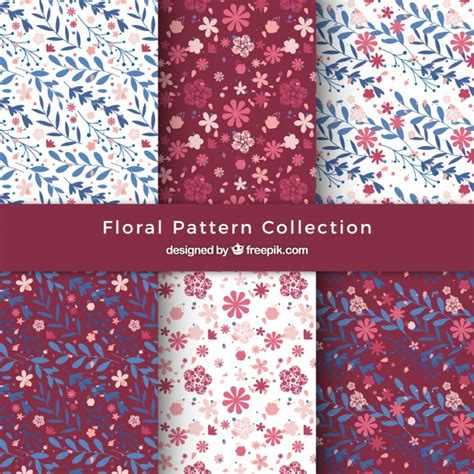 svg pattern collection cute floral pattern collection vector free download