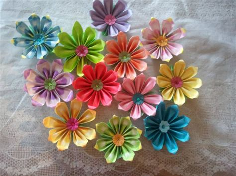 How To Make Paper Flower Petals - how to make 8 petals origami flower