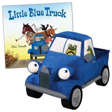 little blue truck the little blue truck board book 8 5 quot plush truck by yottoy inc