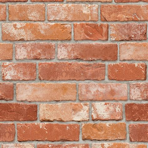 Qw Wallpaper Sticker Light Brown Brick brick pattern contact paper prepasted wallpaper wall stickers wallstickery