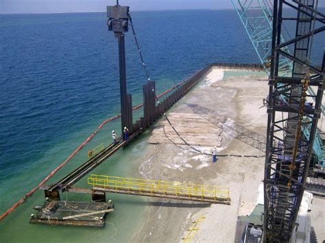 steel plate sections gulf fze al sadr port extension gulf foundation fze