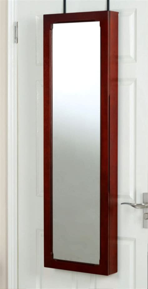 over door mirror armoire over the door mirror jewelry armoire brown 99 99