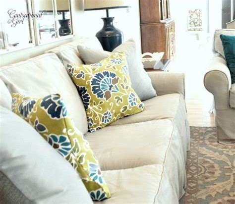 How To Make Pillows Without A Sewing Machine by No Sew Cloth Napkin Pillow Covers Centsational