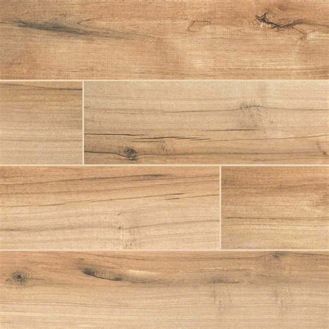 3 50 palmetto porcelain 6x36 quot cognac wood look tile