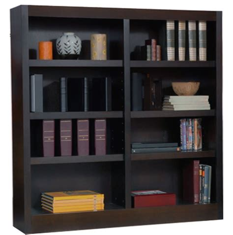48 x 36 bookcase espresso 48 quot w wood bookcases