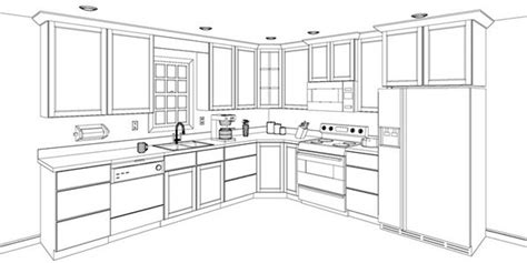 design kitchen cabinet layout provides 3d design to envision your kitchen