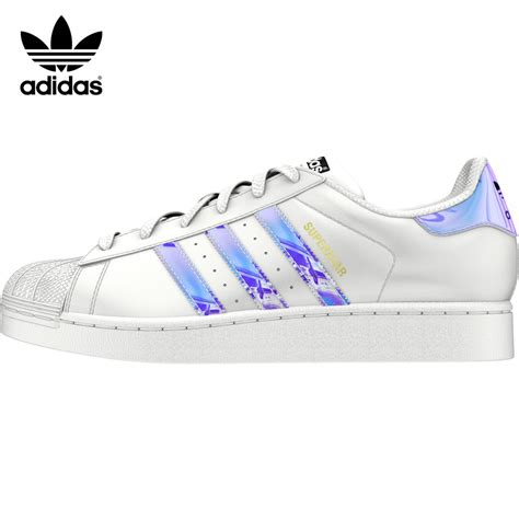 Promo Sepatu Adidas Original Superstar J White Holographic Exclusive T adidas superstar aq6278