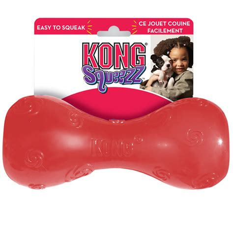 Kong Squeezz Psd1 Squeezz Dumbbell Large kong squeezz dumbbell large for dogs