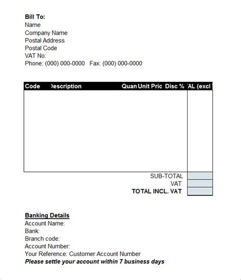 proforma invoice template word doc invoice exle