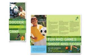 Sports Brochure Templates by Soccer Sports C Brochure Template Design
