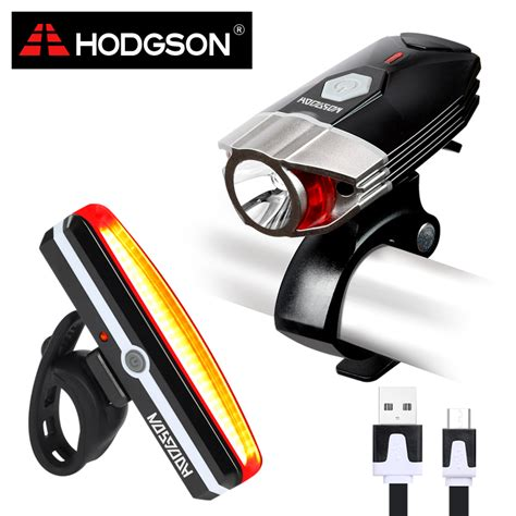 bike front and rear light set hodgson usb rechargeable led bike light waterproof front