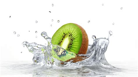 wallpaper kiwi fruit splash photography