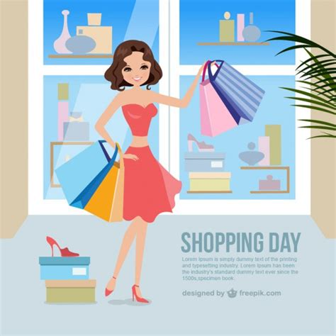 shopping for s day femme shopping vecteurs et photos gratuites