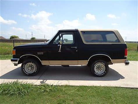 1990 ford bronco ii eddie bauer 4x4 clean v6 tons of new parts winter ready buy used 1990 ford bronco eddie bauer 4x4 5 0l clean no rust new tires no reserve in