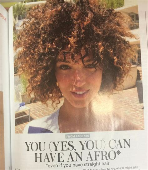 afro allure magazine allure magazine uses white woman in afro tutorial