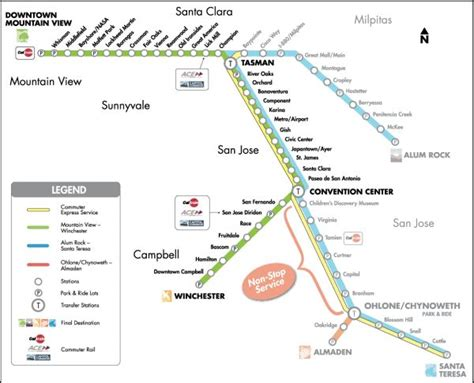 san jose light rail map san jose light rail map my