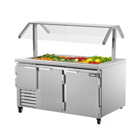 Table Top Refrigerated Salad Bar leader bt118 refrigerated salad bar buffet table with optional sneeze guard kitchenall new york