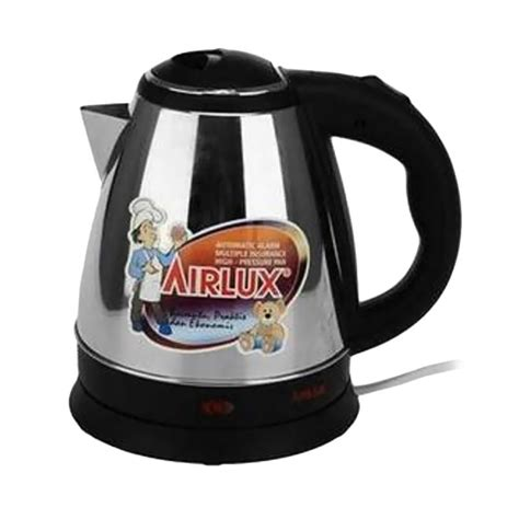 Ketel Air Listrik Airlux Stainless 1 5 L 8150 Ss jual daily deals airlux ke 8150 electric kettle 1 5 l harga kualitas terjamin
