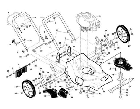 mcculloch parts diagram mcculloch m7053d 96141015000 lawnmower frame spare parts
