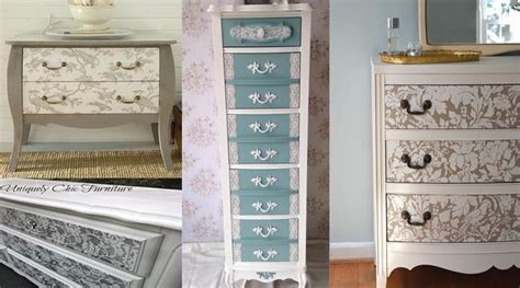 diy painted furniture 10 ideas how to diy lace painted furniture the art in life