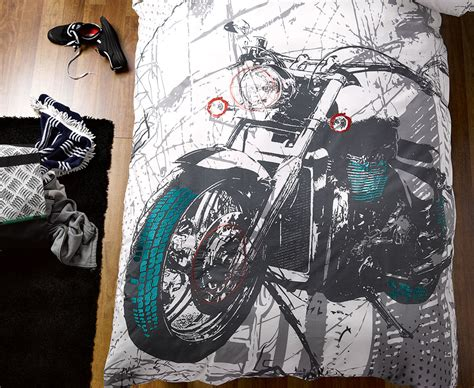motorcycle bedding harley quilt cover set doona duvet boys motorcycle bedding