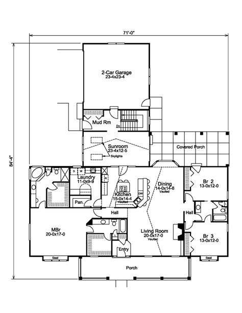 2800 Sq Ft House Plans Country Style House Plan 3 Beds 3 Baths 2800 Sq Ft Plan 57 577