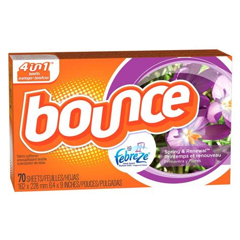 bounce dryer sheets bounce and renewal dryer sheets with febreze 70 count 003700004490 the home depot