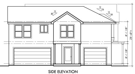 building houses with side views side view of house plans