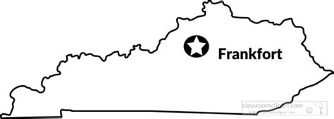 kentucky map capital us state black white maps kentucky outline state map