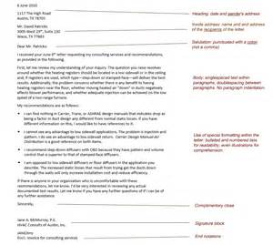 Parts Business Letter Heading online technical writing business correspondence overview