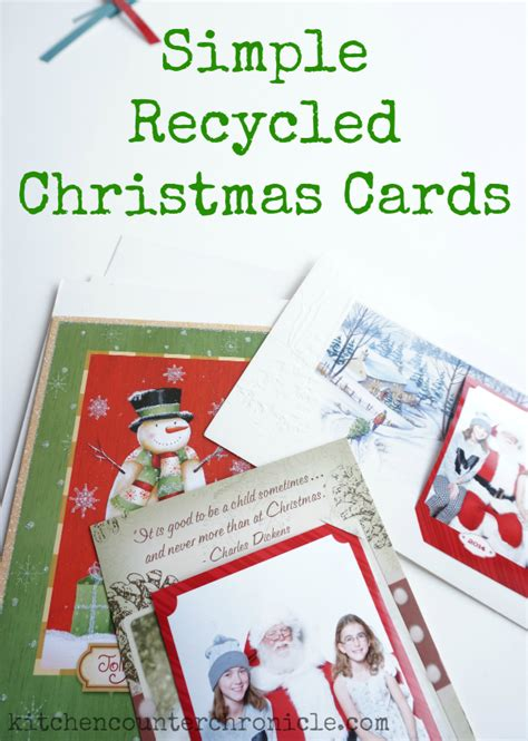 Gift Card Recycle - simple recycled christmas cards