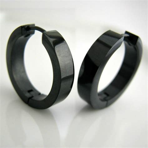 Black Earrings black hoop earrings for www pixshark images