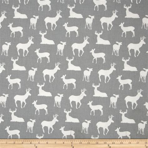 printable cotton fabric silhouette premier prints deer silhouette cool grey discount