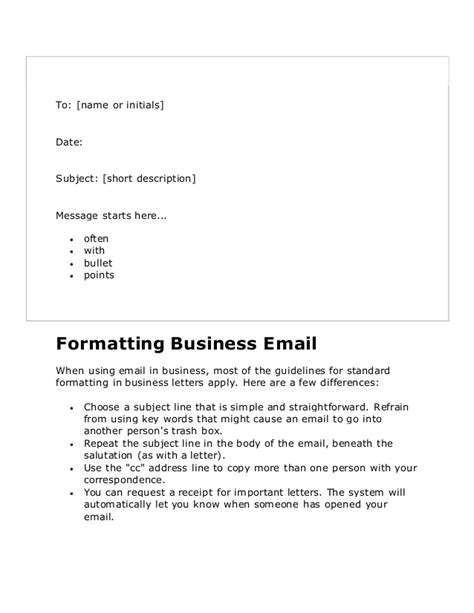Memo Format Bullet Points Business Letters In