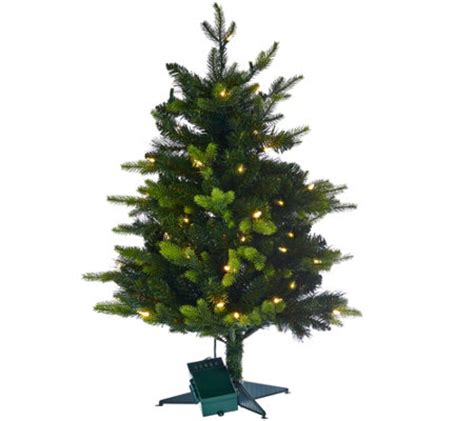 wwwqvccomprelit christmas trees bethlehem lights 30 quot mixed greens prelit stake tree page 1 qvc